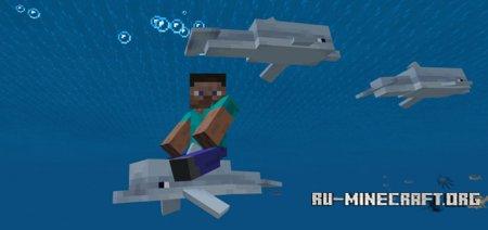 Скачать Controllable Rideable Dolphins для Minecraft PE 1.2