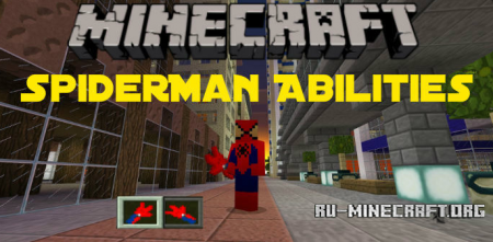 Скачать SpiderMan Abilities для Minecraft PE 1.4
