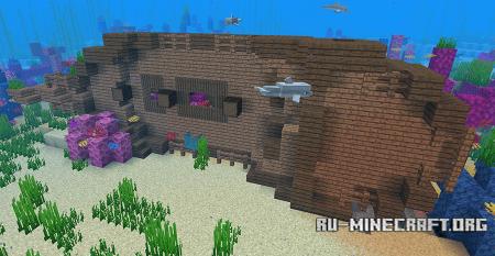 Затонувший корабль в Minecraft 1.13
