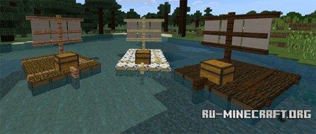 Скачать Chested Sail Raft для Minecraft PE 1.4