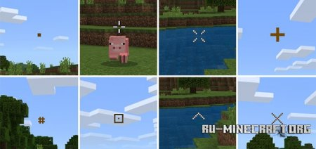 Скачать Custom Crosshairs для Minecraft PE 1.4