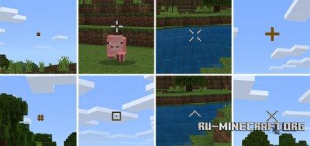 Скачать Custom Crosshairs для Minecraft PE 1.4