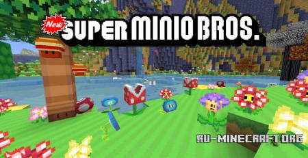 Скачать New Super Minio Bros [16x] для Minecraft 1.12
