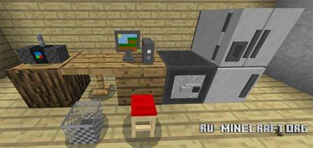 Скачать Mine-Furniture для Minecraft PE 1.4