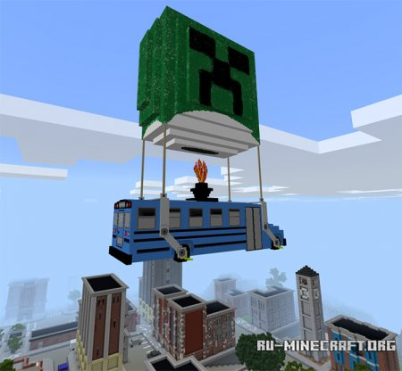 Скачать Fortnite Battle Bus для Minecraft PE 1.5