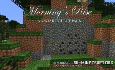 Скачать Morning's Rise [32x] для Minecraft 1.12