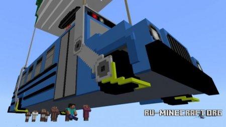 Скачать Fortnite Battle Bus для Minecraft PE 1.4