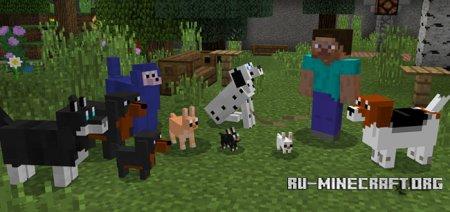 Скачать More Dogs для Minecraft PE 1.5
