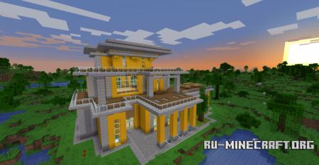 Скачать Yellow Simple Modern House для Minecraft