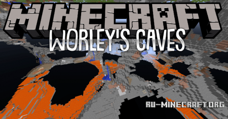 Скачать Worley's Caves для Minecraft 1.12.2
