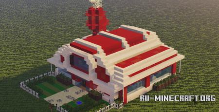 Скачать Red Modern House для Minecraft
