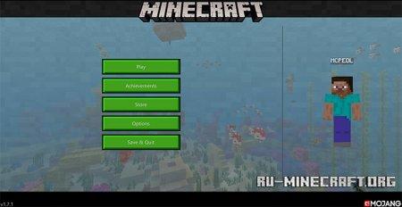 Скачать New Minecraft UI (Hawf Human) для Minecraft PE 1.8