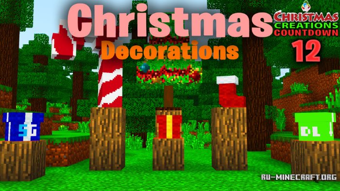 Christmas Minecraft Decorations.Skachat Sg Christmas Decorations Dlya Minecraft Pe 1 8