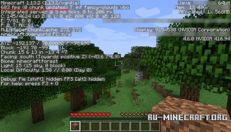 Пример FPS в Minecraft 1.13.2