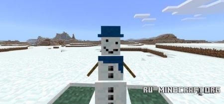 Скачать Snowman для Minecraft PE 1.8
