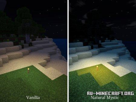 Скачать Natural Mystic Shaders для Minecraft PE 1.8