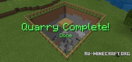 Скачать Quarry Function для Minecraft PE 1.8