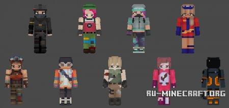 Скачать Fortnite Heroes для Minecraft PE 1.7