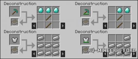 Скачать Deconstruction Table для Minecraft 1.10.2