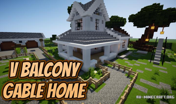 Скачать Balcony Gable Home для Minecraft