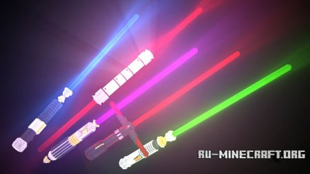 Скачать Glowing 3D Lightsabers для Minecraft 1.13