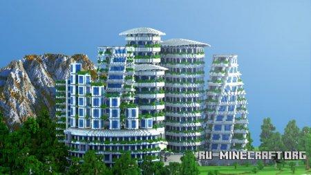 Скачать Futuristic Hotel для Minecraft