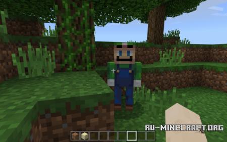 Скачать Luigi the Creeper для Minecraft PE 1.9