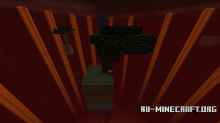 Скачать Skyblock on Nether для Minecraft
