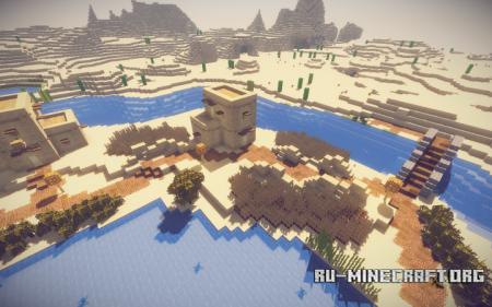 Скачать Sandra, the Desert Oasis Town для Minecraft