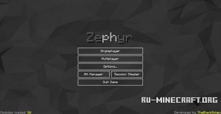 Скачать Zephyr для Minecraft 1.8