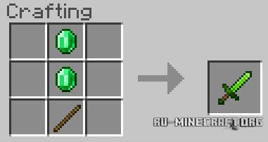 Скачать Emerald Items для Minecraft PE 1.12