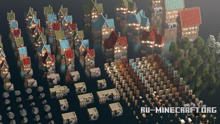 Скачать Medieval Build Bundle by Wet для Minecraft
