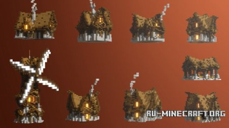 Скачать Medieval House Pack для Minecraft