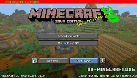Лого Minecraft: 3D Shareware v1.34