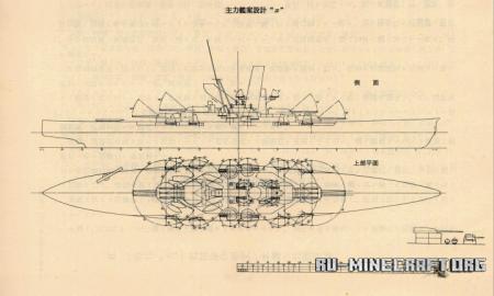 Скачать Hiraga's Kongo Replacement Battleship для Minecraft