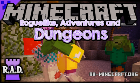 Скачать Roguelike Adventures and Dungeons для Minecraft 1.12.2