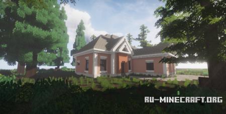 Скачать Pink Suburban House для Minecraft