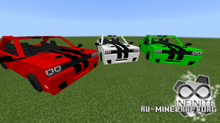 Скачать Dodge Challenger SRT для Minecraft PE 1.11