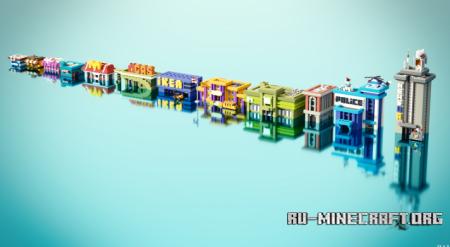 Скачать Modern Houses Building Bundle by PAV для Minecraft