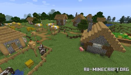 Деревня в Minecraft 1.14.2