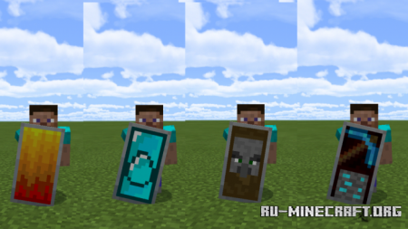 Скачать Custom Shield Pack 2 для Minecraft PE 1.12