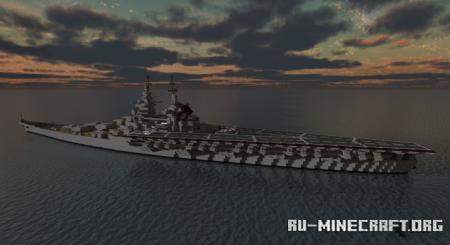 Скачать Fictional French Hybrid Battleship Carrier для Minecraft