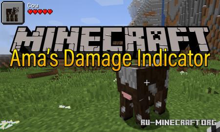 Скачать Ama's Damage Indicator для Minecraft 1.13.2