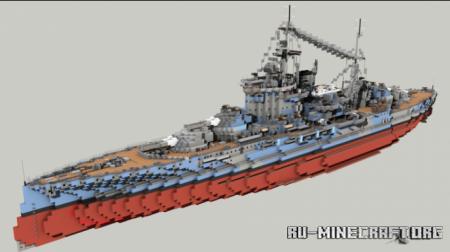 Скачать British Battleship HMS Warspite для Minecraft