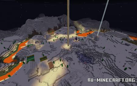 Скачать Fire Lake Survival World для Minecraft