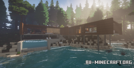 Скачать Relief - Modern Mountain House для Minecraft