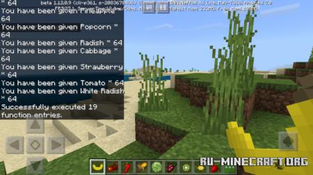 Скачать FruitAndVegetables для Minecraft PE 1.12