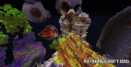Скачать Skyblock Spawn - Space Themed для Minecraft