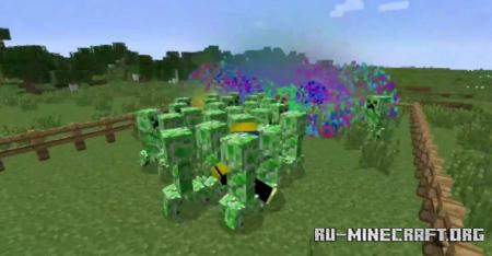 Скачать Creeper Confetti для Minecraft 1.14.2