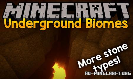 Скачать Underground Biomes для Minecraft 1.14.3